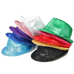 Novelty Fedora Hat with Sequins