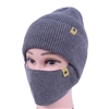 Two Piece Knitted Cap and Face Mask