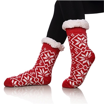 Mid-Tube Patterned Christmas Stocking