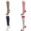 Custom Knit In Knee High Christmas Socks