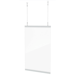 "Clear Hanging Shield 28"" x 22"""