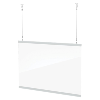 "Clear Hanging Shield 56"" x 22"""