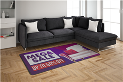 Indoor and Outdoor Rubber Backing Logo Mat 3x4FT