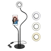 360 Rotating LED Ring Light with Phone Holder