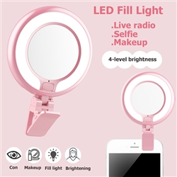 Rechargeable Clip On Makeup Mirror - Cell Phone