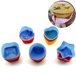 Silicone Cupcake Bakeware Molds