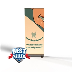 "Economy Retractable Banner Stand 33.5"" x 78"""
