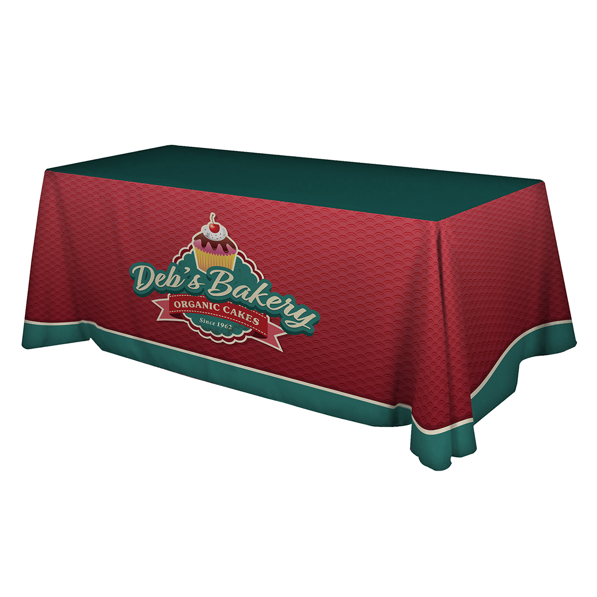 Premium 6ft Table Throw - Full Color - 3 Sided