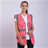 Hi-Vis Pink Safety Vest