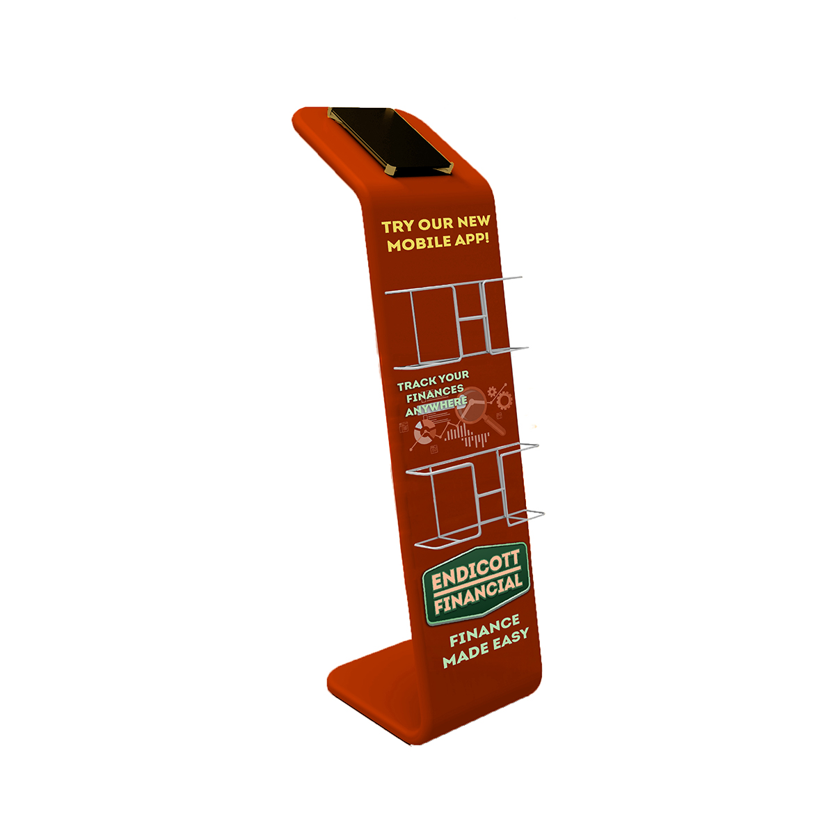 Tablet Literature Display Stand