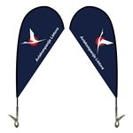 Mini Teardrop Flag - Double Sided Clip