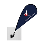 Mini Teardrop Flag - Single Sided Magnet
