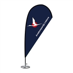 Mini Teardrop Flag - Single Sided Table