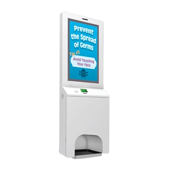 "21.5"" LED Screen Sanitizer Dispenser Wall Mount"