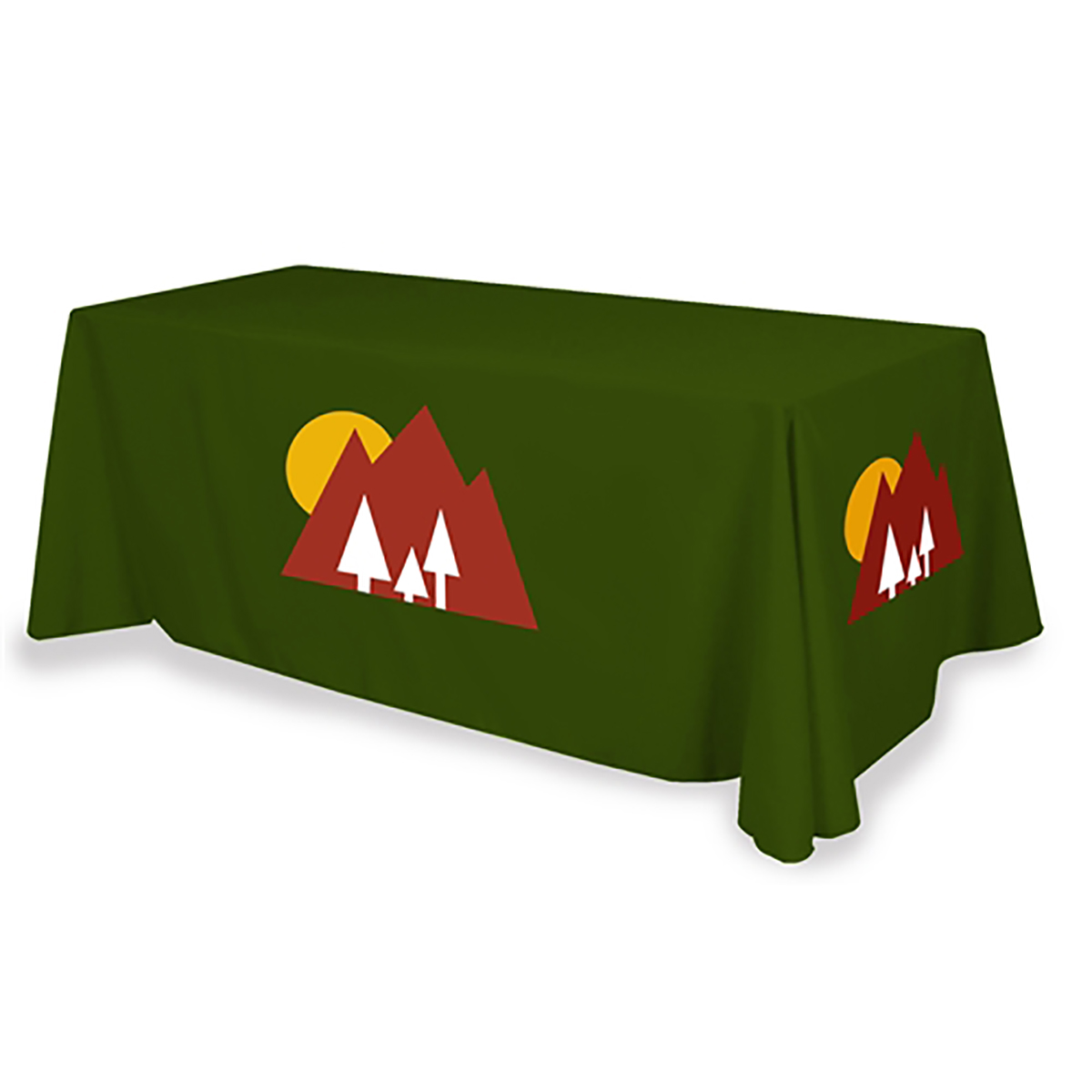 Standard 6ft Table Throw - Full Color - 3 Sided