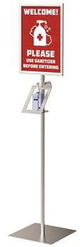 Sanitizer Pedestal Stand and Display