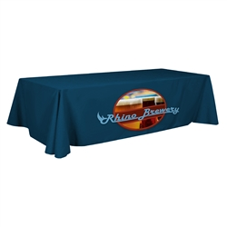 Stain Resistant 8ft Table Throw - Full Color - 3 Sided