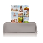 5ft Table Top Fabric Pop Up Display - With Graphic