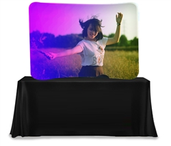 8ft Wave Series Table-Top Display - With Graphic