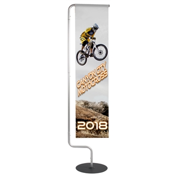 Wave Display Flag - Single Sided