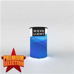 WaveLight Air Inflatable Backlit Counter – Circular