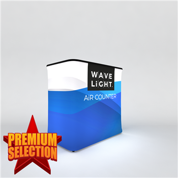 WaveLight Air Backlit Inflatable Counter – Rectangular