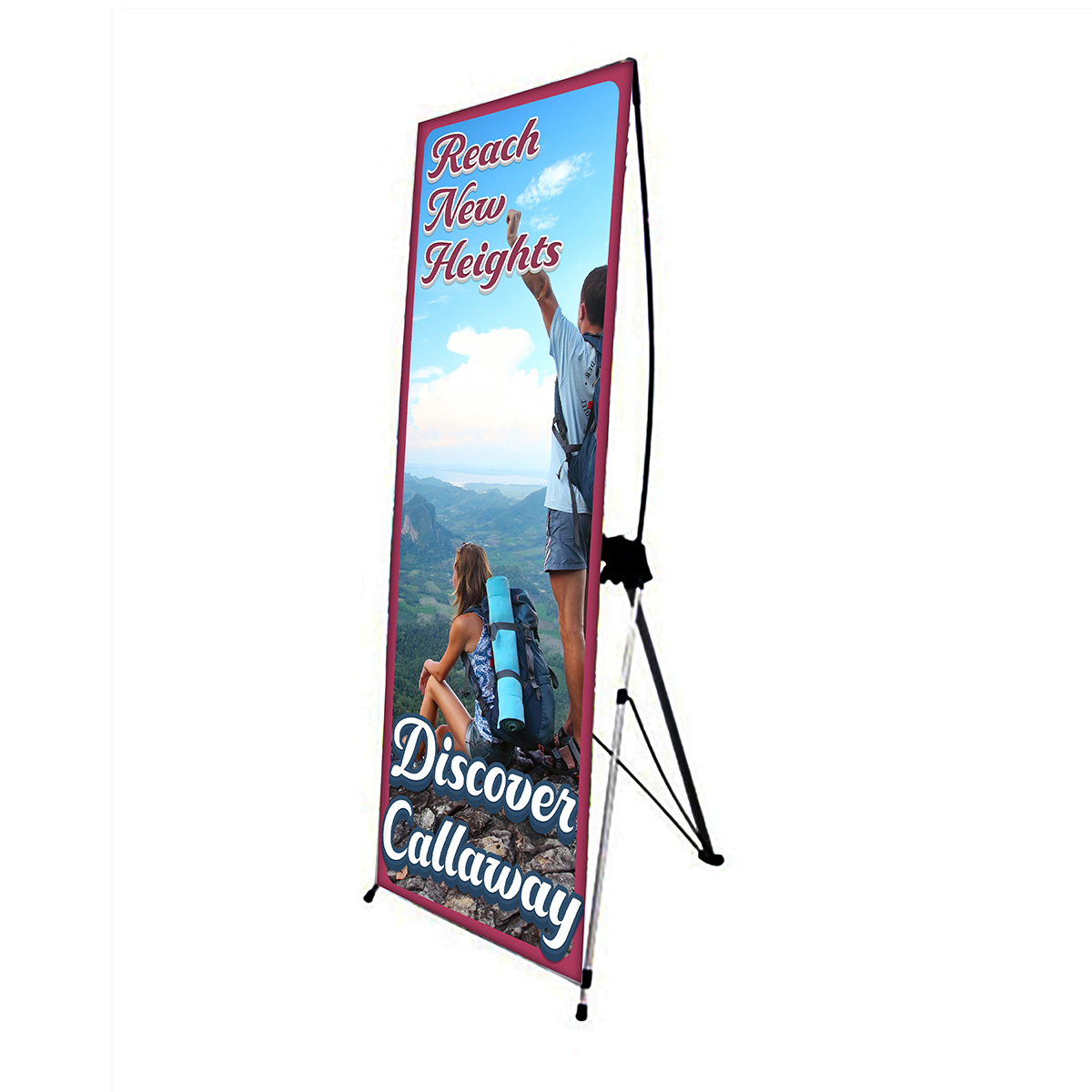 Single Side X Banner Stand