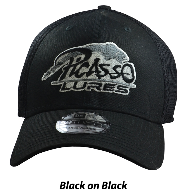 Picasso New Era<sup>®</sup> Flex Fit Hats Black On Black
