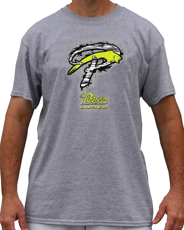 Sports Grey Picasso T-Shirts Chartreuse logo
