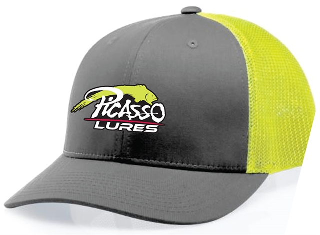 Richardson Mesh Snap Back Hats Grey/Chartreuse