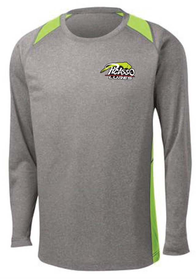 Sport-Tek<sup>®</sup> Long Sleeve Heather Colorblock Contender<sup>™</sup> Tee.