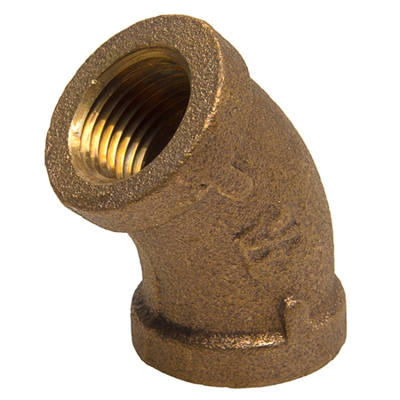 45° Elbow - Threaded - Bronze