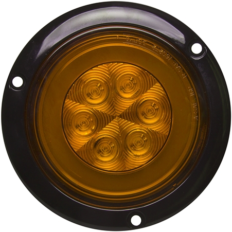 21 LED Round GLO Light - Flanged - 4""