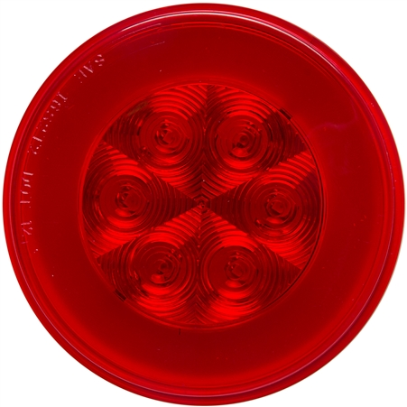 21 LED Round Light - Red LED/Lens - 4""