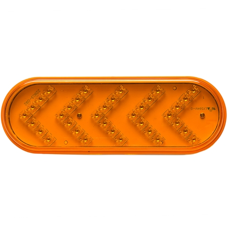 35 LED Oval Sequential Turn Signal - Amber