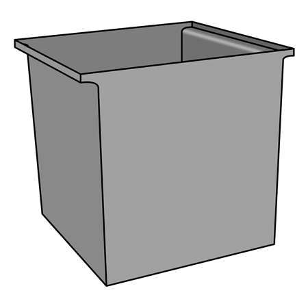 Trash Box - Square with Lip - (M061TK)