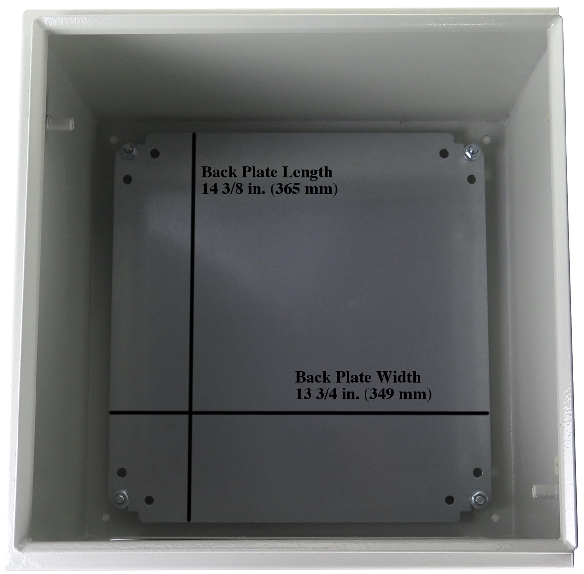 "Yuco YC-16X16X10-UL-FE IP66 Enclosure Nema Type 4 Fully Enclosed 16/"" 16/"" 10/"""