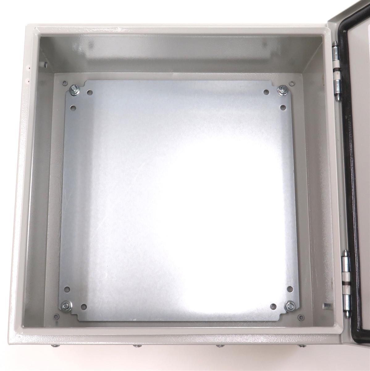 Yuco Fully Enclosed Nema Type 4 UL Enclosure Wall Mount Galvanized Back Plate