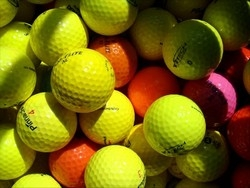 100 AA Colored Grade Used Golf Balls (100 ct.) NEW LOWER PRICE! CLEARANCE!!