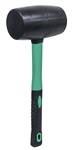 AIC31323 32 oz Black Rubber Mallet w/Fiberglass Handle