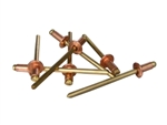 CS44D100 1/8 x 1/4 Copper Rivet Sold in Bags of 100