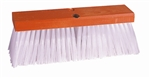 "FBPF1664 Weiler Brush 16"" Orange Block White Plastic Street Broom - 4"" Trim Length"