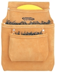 MN583 3 Pocket Leather Nail Bag