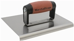 "MT184SSD Marshalltown 8 x 6 SS Edger-Straight Ends-1/4""  Radius, 3/8"" Lip-DuraSoft® Handle"
