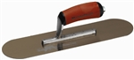 "MTMSP12GSD Marshalltown 12 X 3 1/2"" Golden Stainless Steel Pool Trowel w/Curved DuraSoft® Handle"