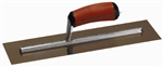 "MTMXS145GD Marshalltown 14 X 5"" Golden Stainless Steel Finishing Trowel with DuraSoft® Handle"