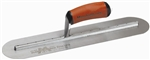 "MTMXS244FD Marshalltown 24 X 4"" Fully Rounded Finishing Trowel w/Curved DuraSoft® Handle"