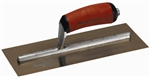 "MTMXS4GSD Marshalltown 111/2 X 4 3/4"" Golden Stainless Steel Finishing Trowel with DuraSoft® Handle"