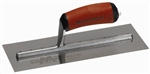 "MTMXS4SSD Marshalltown 11 1/2  X 4 3/4"" Bright Stainless Steel Finishing Trowel with DuraSoft® Handle"