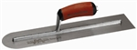 "MTMXS81RED Marshalltown 18 X 4"" Rounded End Finishing Trowel w/Curved DuraSoft® Handle"